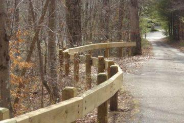 Steel-Backed Timber Parkrail